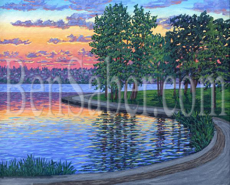 Picturepainting,greenlake,green lake,seattle,Ben Saber
